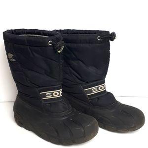 SOREL Black Cub Youth Boots Boys Size 3